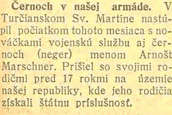 Článok z roku 1926.