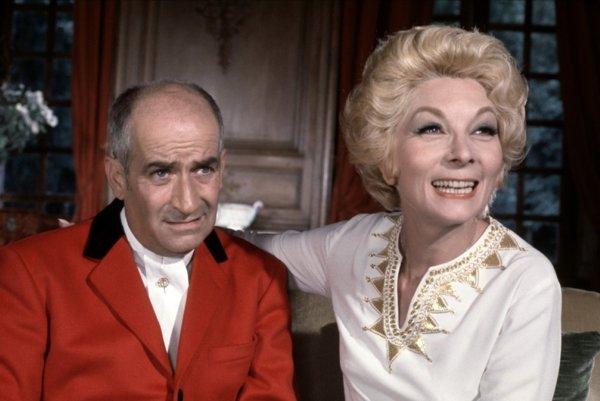 Claude Gensacová v roli partnerky žandára Cruchota.