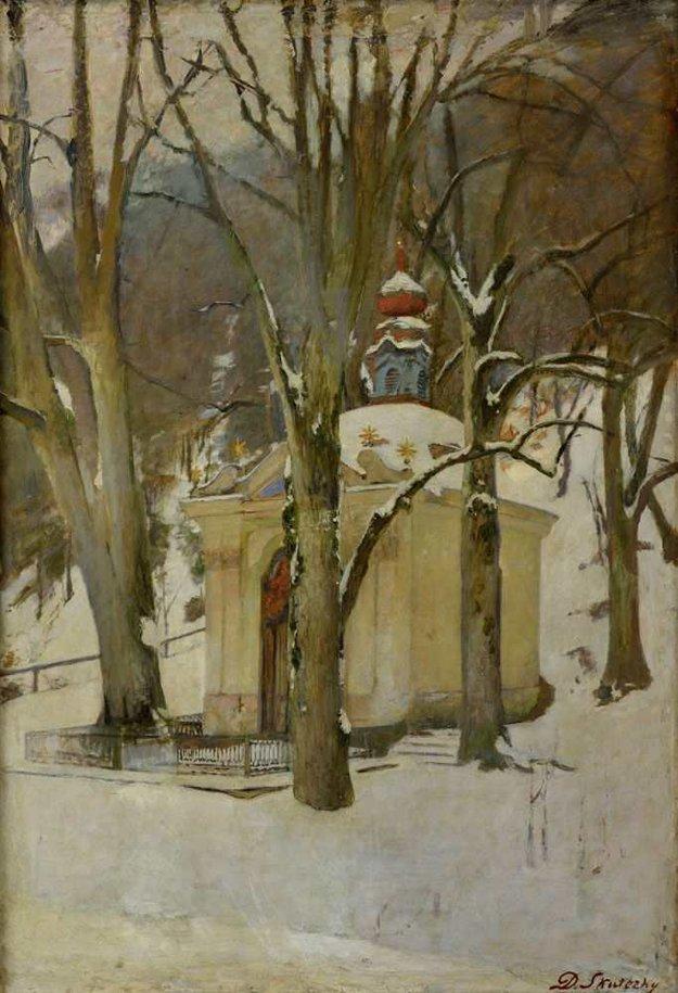 Takto videl kaplnku maliar D.Skutecký