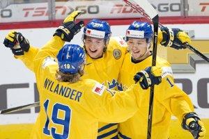 Švédski hokejisti - ilustračná fotografia.