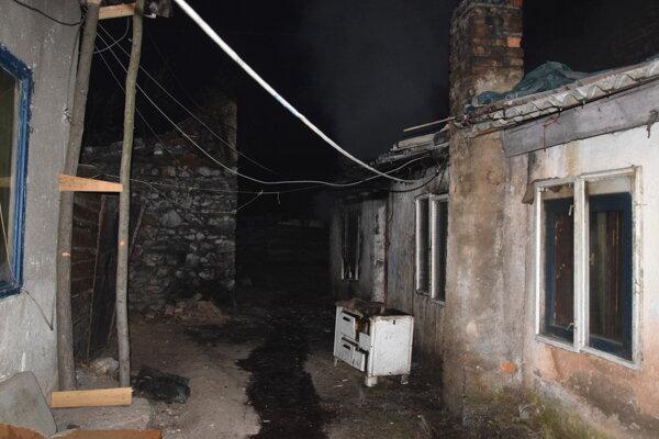 Silvestrovský požiar v Plešivci.