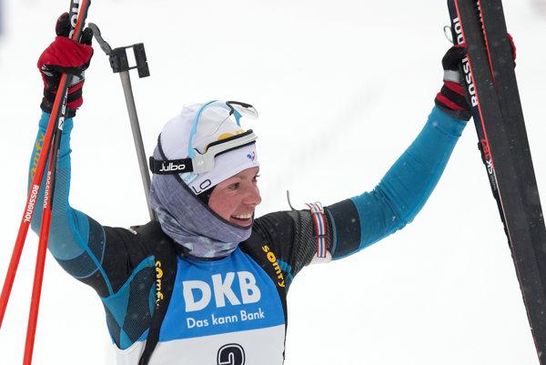 Francúzska biatlonistka Marie Dorinová-Habertová