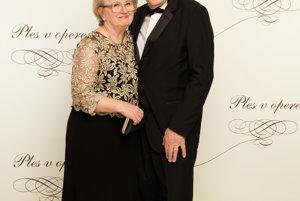 Herec František Kovár s manželkou