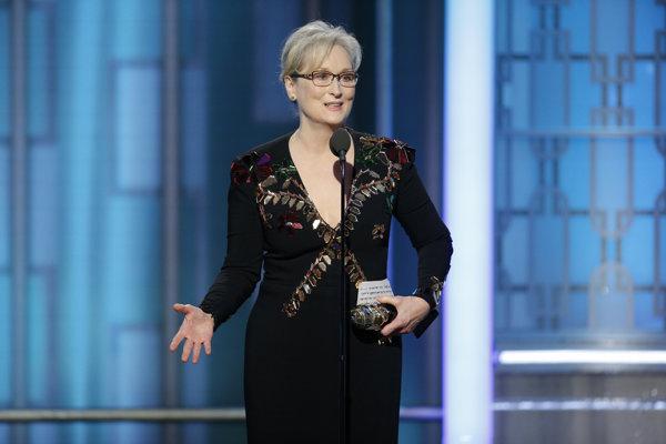 Meryl Streepová kritizuje Trumpa a preberá si cenu za celoživotné dielo.