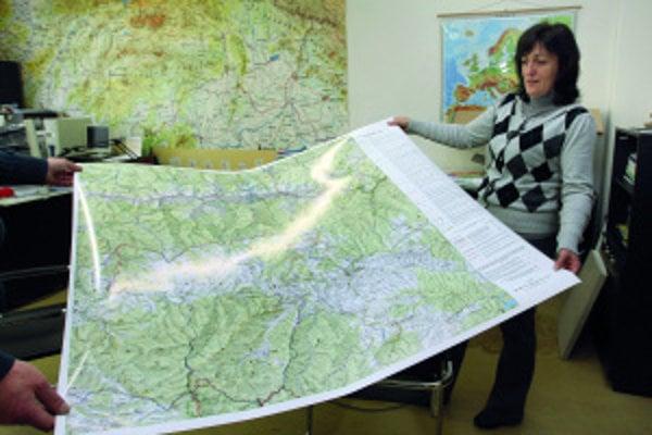 Na začiatku sa treba rozhodnúť, čo má byť na mape dominantné, hovorí Mária Fábryová zVojenského kartografického ústavu