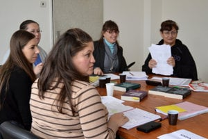 Foto z tréningu mediátoriek v Banskej Bystrici.
