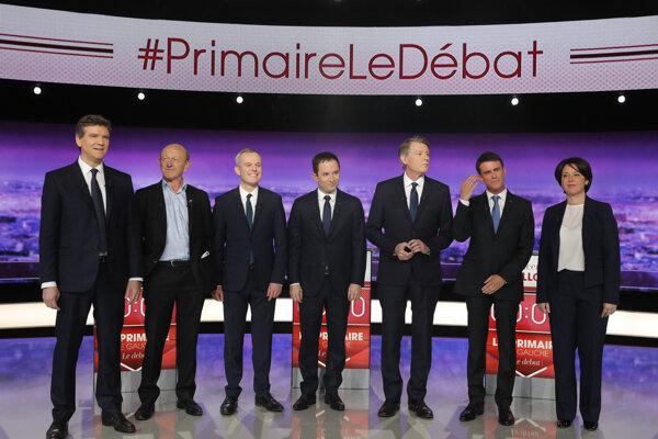 Francúzski ľavicoví prezidentskí uchádzači.