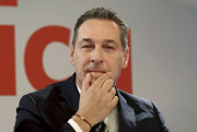Predseda rakúskej krajne pravicovej Strany slobodných (FPÖ) Heinz-Christian Strache.