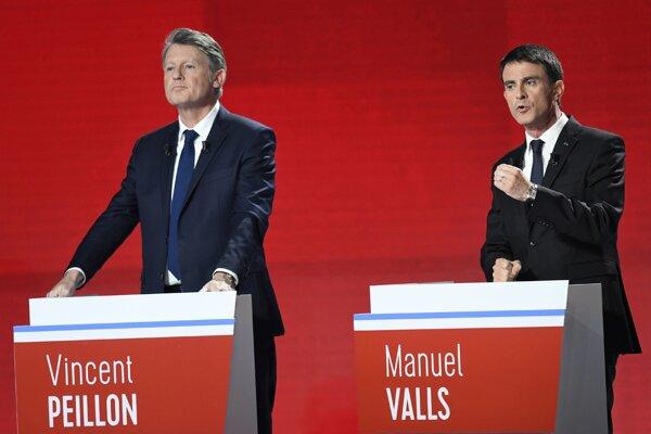 Kandidáti Vincent Peillon a Manuel Valls.