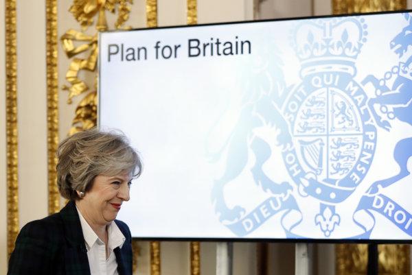 Britská premiérka predstavila plán brexitu.