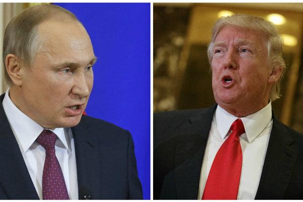Vladimir Putin a Donald Trump.