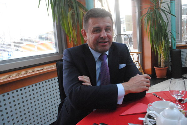 Minister László Sólymos v Prešove.