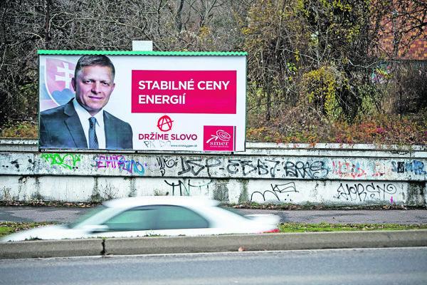 Robert Fico sa rád chváli nízkymi cenami energií.