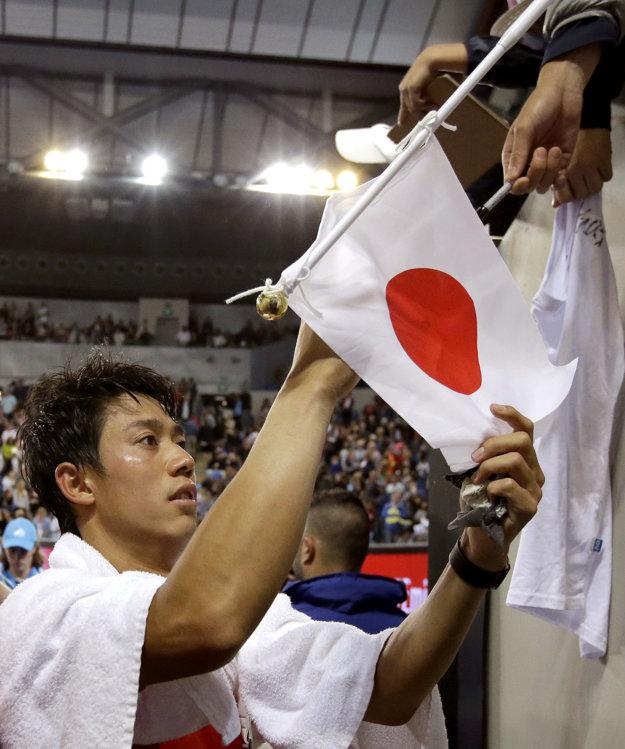 Kei Nišikori postúpil bez väčších problémov.