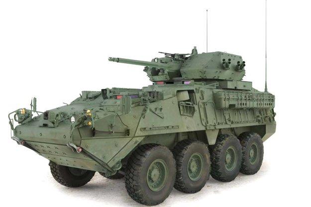 Stryker s 30 milimetrovým kanónom.