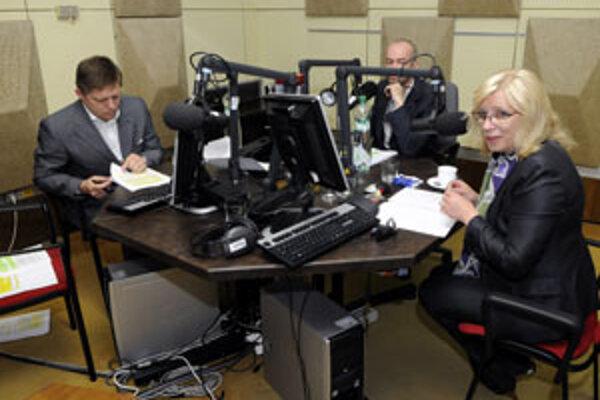 Na rozdiel do minulotýždňovej debaty v STV Iveta Radičová výrazne zmenila tón v diskusii s Robertom Ficom.