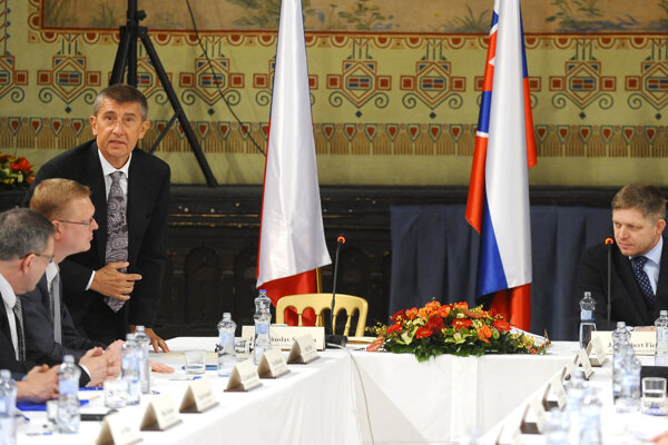 Andrej Babiš a Robert Fico.