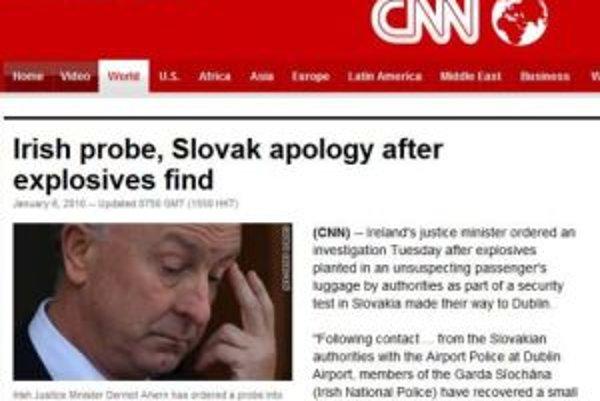 Správa o incidente na webe CNN.com