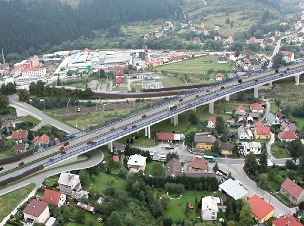 Vizualizácia mosta Podzávoz, ktorý bude dlhý 832 metrov a vysoký 17 metrov.