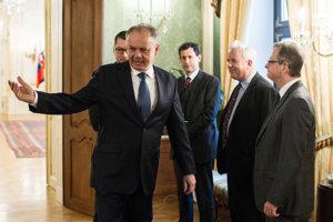 Prezident Andrej Kiska prijal zástupcov Benátskej komisie.