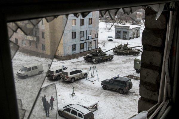 Ukrajinské mesto Avdijivka.