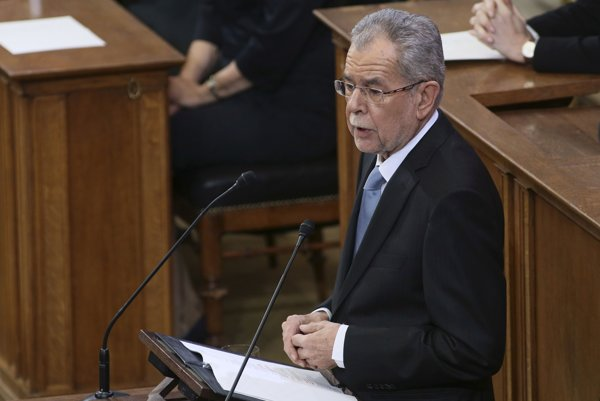Rakúsky prezident Alexander Van der Bellen.