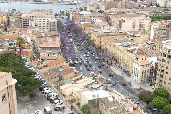 Výhľad na Cagliari