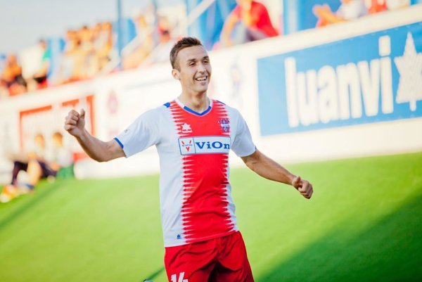 Samir Nurkovič sa tešil z gólu do siete Ružomberka pri svojej premiére v drese FC ViOn, bolo to 19. júla 2013.