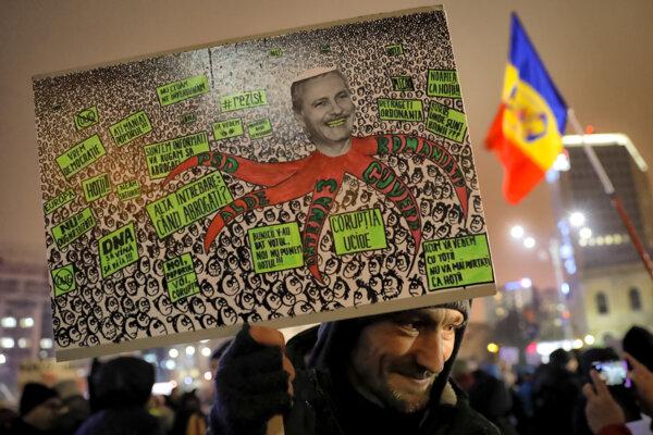 Proti rumunskej vláde sa zdvihla aj vlna protestov verejnosti.