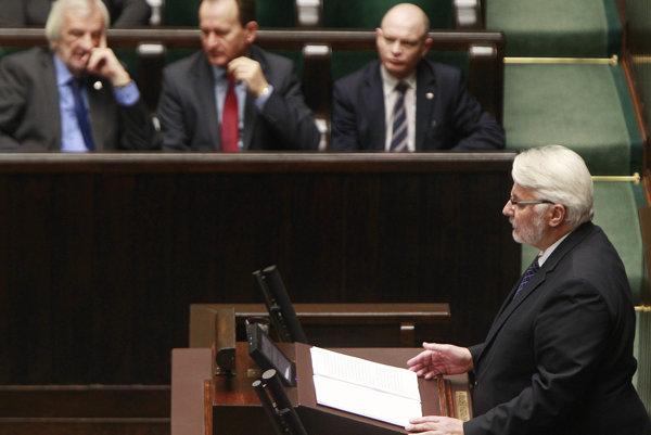Poľský minister zahraničných vecí Witold Waszczykowski