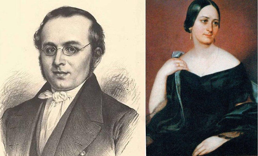 František Čelakovský a Božena Němcová. Čelakovský bol ufrľaný, samoľúby a neznesiteľný pedant, čo sa Rajskej stalo osudné.