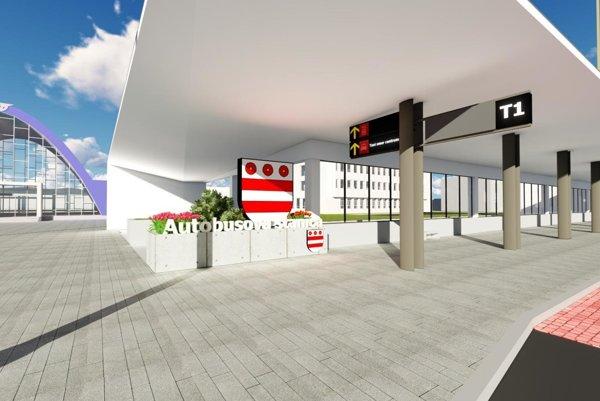Takto by mal v budúcnosti vyzerať priestor pred stanicami.