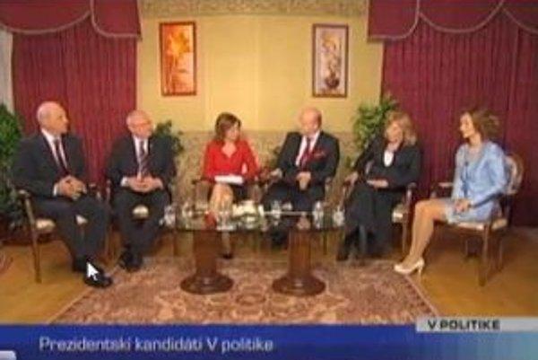 V TA3 sa včera stretli śtyria kandidáti na prezidenta.