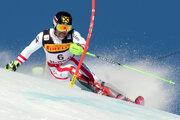 Marcel Hirscher predviedol v prvom kole slalomu skvelú jazdu.