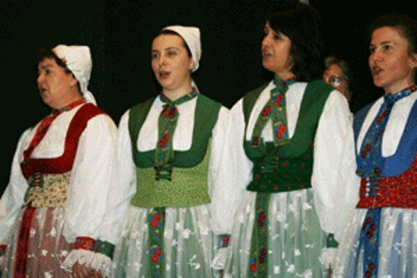 Na prehliadke Súzvuky vystúpil aj spevácky súbor Neutrataler z Tužiny.