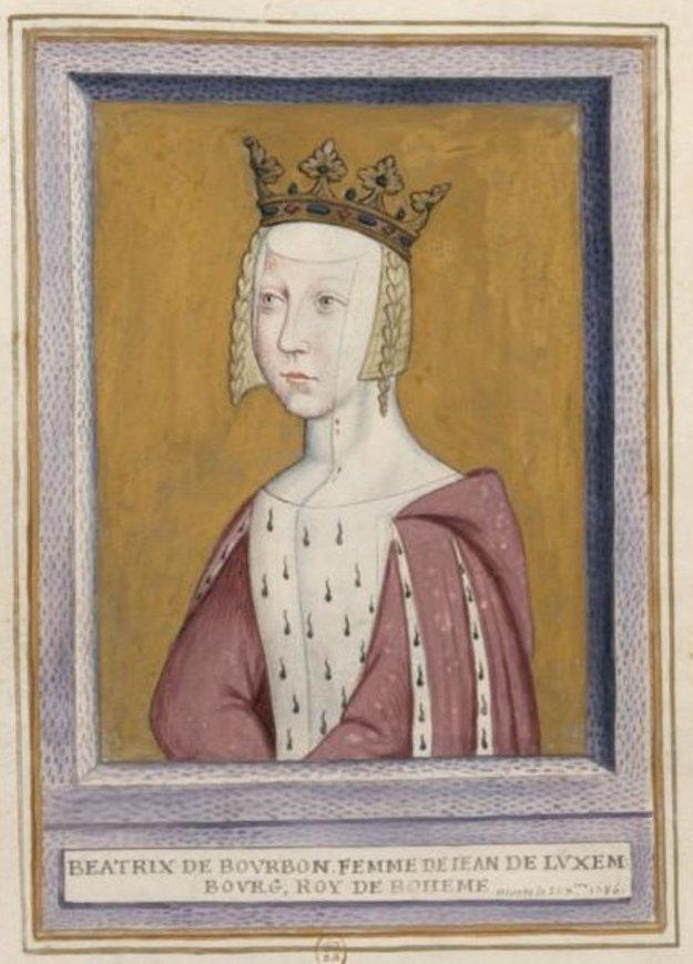 Beatrix Bourbonská, manželka českého kráľa Jana Luxemburského.