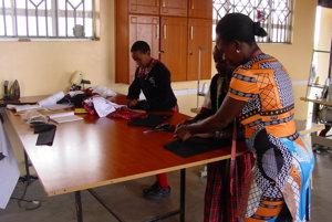 Kurz šitia na základnej škole St. Philip Neri Primary School neďaleko Nairobi.