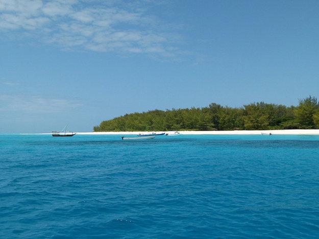 Ostrov Mnemba v Tanzánii.