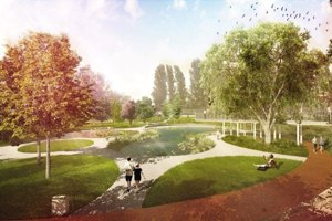 V športovom parku Jama má byť aj jazierko.
