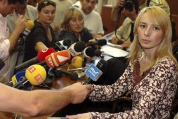 Hedviga Malinová počas stretnutia s novinármi 13. septembra 2006.