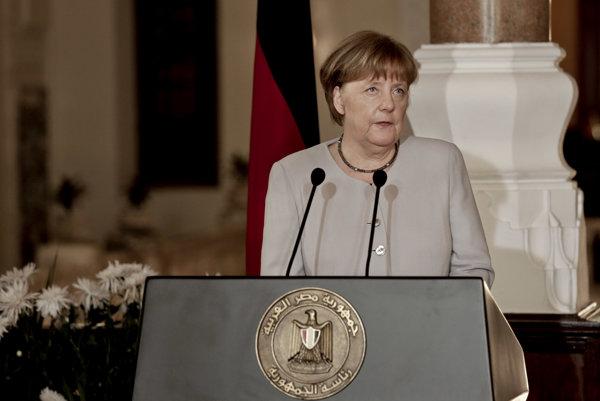 Angela Merkelová v Káhire.