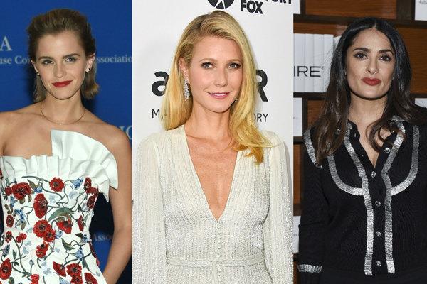 Emma Watson, Gwyneth Paltrow, Salma Hayek