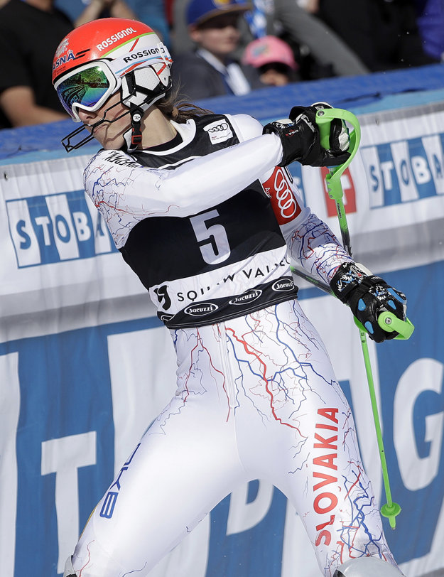 Nahnevaná reakcia Petry Vlhovej po tom, čo nedokončila druhé kolo.