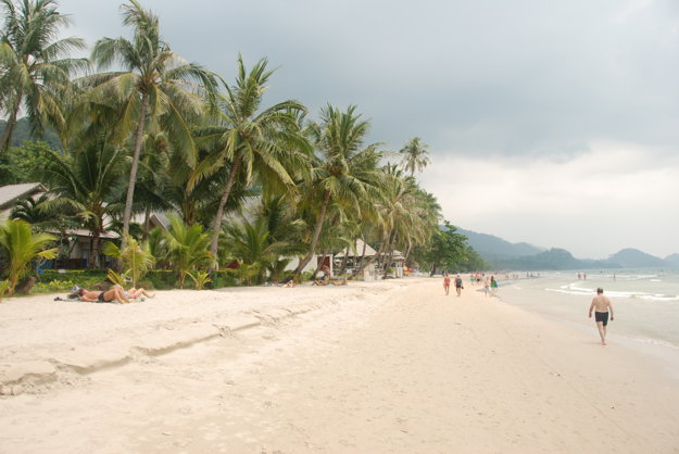 White Sand Beach na ostrove Ko Chang