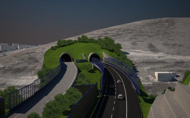 Vizualizácia tunela na Horelici po dobudovaní ďalších dvoch pruhov.