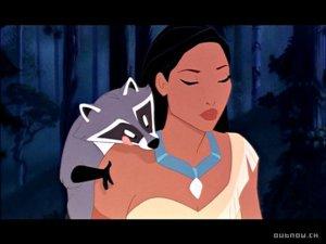 Pocahontas, ako ju ukazuje známa disneyovka.