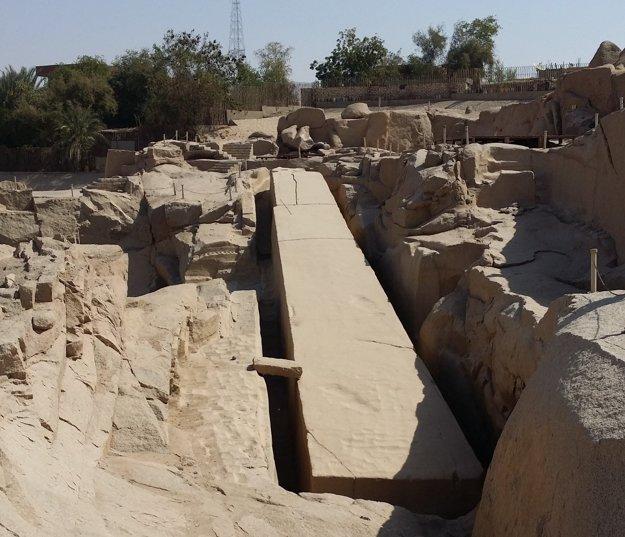 Nedokončený obelisk kráľovnej Hatšepsut