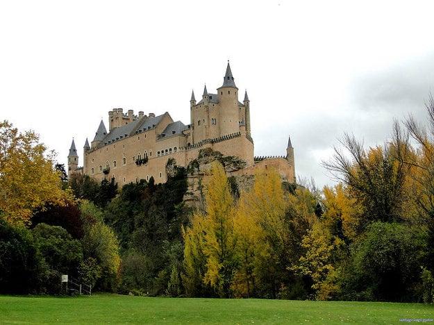 Zámok Alcazar, Segovia Španielsko.
