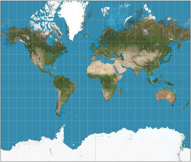 Mercatorova projekcia.