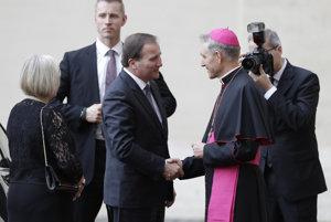 Pápežský prefekt víta premiéra Švédska.